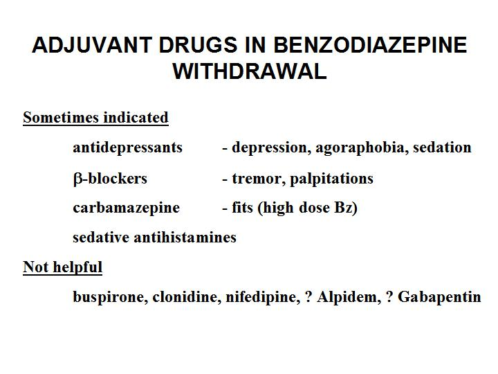Clonidine And Benzos